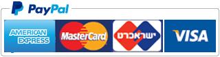 שלם בפיי-פאל באמצעות כרטיסי אשראי